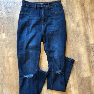 Fashion Nova Jeans, Distressed Knees, Size 13